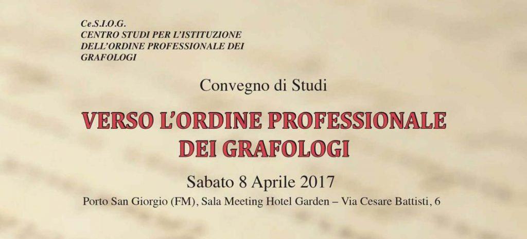 Sabato a Porto San Giorgio il primo convegno di studi dei professionisti in grafologia