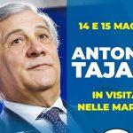 Antonio Tajani presidente Parlamento UE a Montegranaro