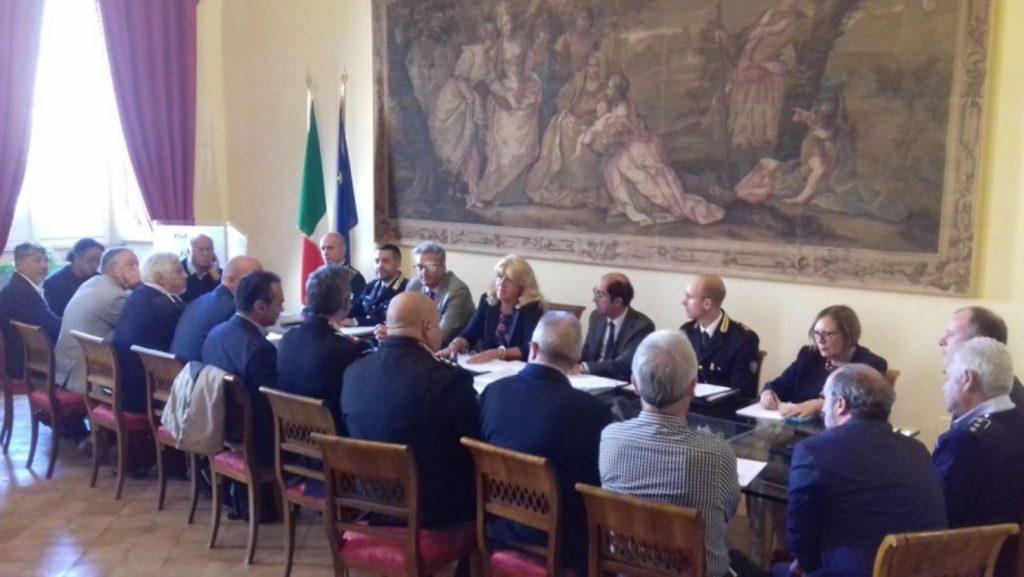 Seduta Comitato provinciale ordine e sicurezza 20 luglio