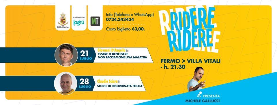 Al via Rassegna Ridere ridere a Villa Vitali il 21 luglio