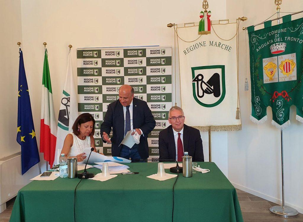 Arquata, incontro tra il Ministro De Micheli e Presidente CCIIAA Marche Sabatini