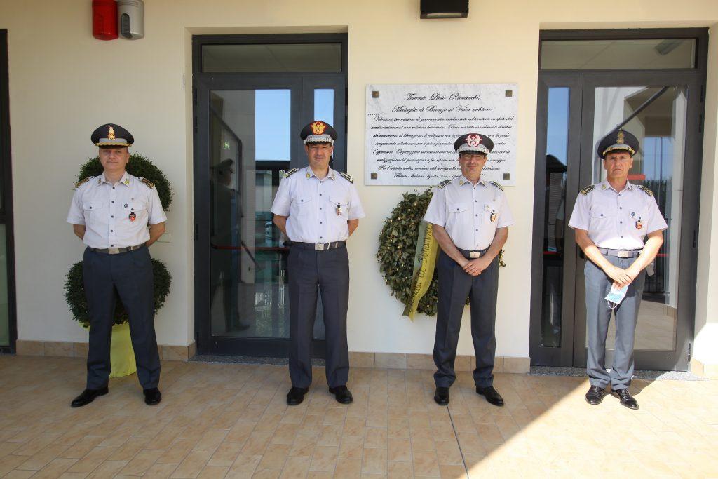 Il Generale di Corpo d'Armata, della Guardia di Finanza, Sebastiano Galdino, in visita al Comando Provinciale di Fermo