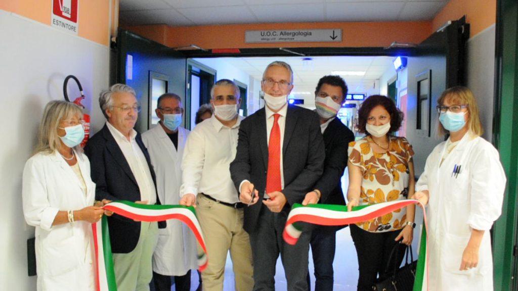 """Il Presidente Ceriscioli all'inaugurazione dei nuovo reparto di Allergologia:"""" Sanità sempre all'avanguardia""""."""