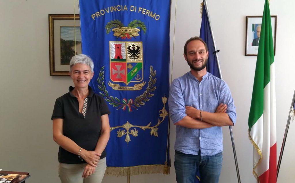La Presidente della Provincia di Fermo Moira Canigola incontra la Fermana Football Club