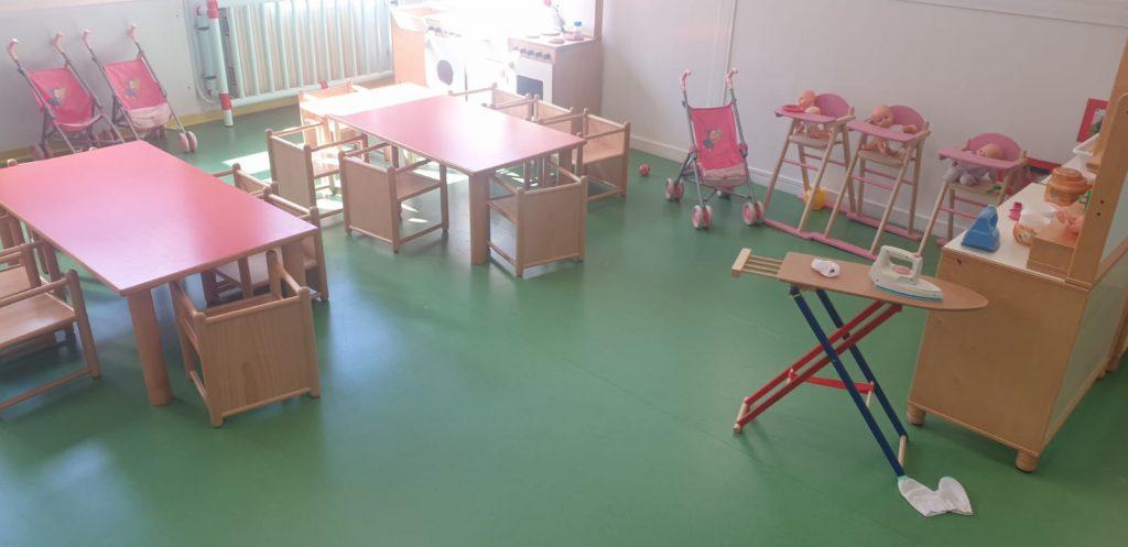 """Porto San Giorgio: Refezione scolastica, il servizio parte il 23 settembre dopo le elezioni Gramegna in visita all'asilo: """"Attività ripresa in ambienti accoglienti"""""""