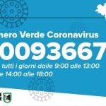 Numero Verde Coronavirus Marche