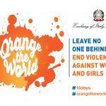 Orange the World, la provincia di Fermo si unisce alla mobilitazione contro la violenza sulle donne