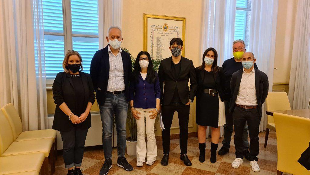 Civitanova Marche: Nuovo CdA Rossini in Comune per il saluto del Sindaco e dell'assessore Belletti