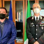 Carloni incontra il colonnello Andreatta dei Carabinieri forestali per il contenimento dei cinghiali