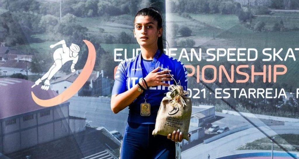 Due medaglie d'oro agli europei di pattinaggio-corsa per Giulia Presti