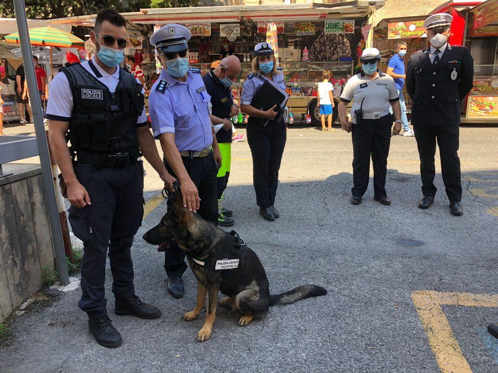 Intensa attività di controllo alla Fiera da parte della Polizia locale