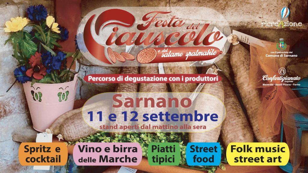 Festa del Ciauscolo, l'11 e 12 settembre a Sarnano